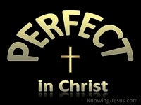 Perfect in Christ - Character and Attributes of God (8)